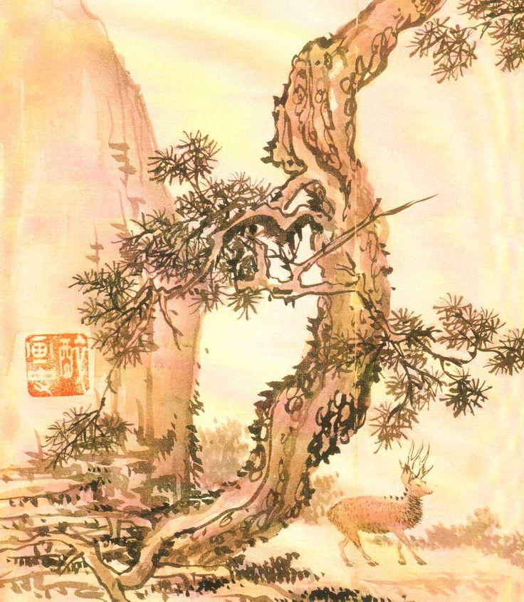 "http://hompi.sogang.ac.kr/anthony/photos/paintings/07.jpg : ""Deer"" by Tanweon, KIim Hong-do (1745-1806)"