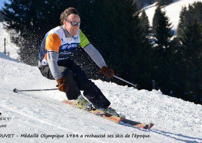 Course de ski avec Didier Bouvet, médaillé olympique