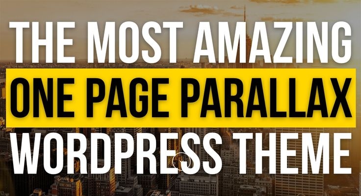 Onepage Parallax WordPress Theme - Jarvis