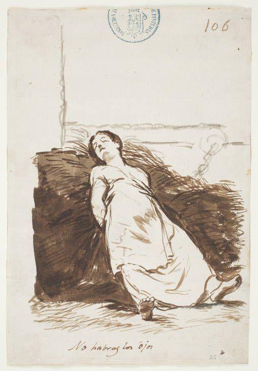 Francisco de Goya - No habras los ójos