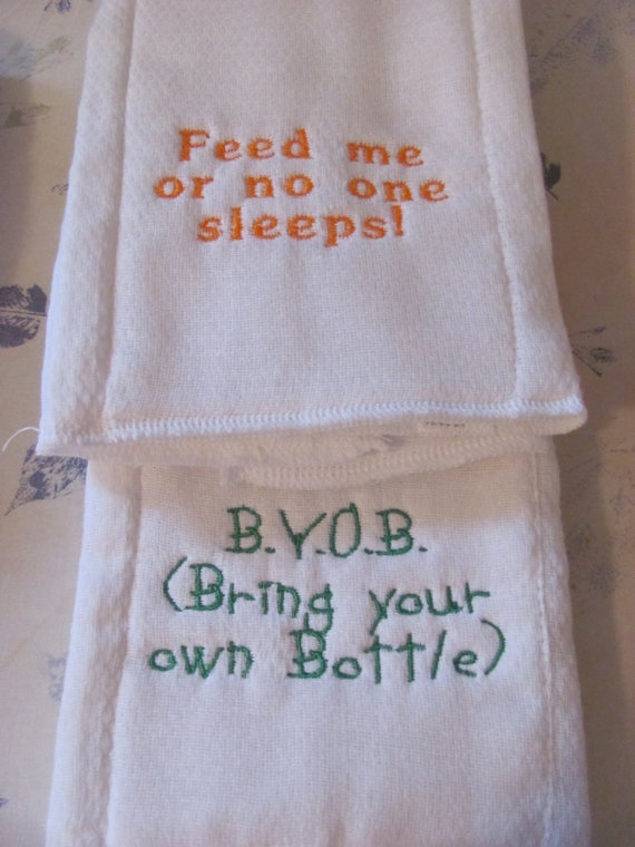 Burp Clothes With Personal Sayings On Them By Cutierus On