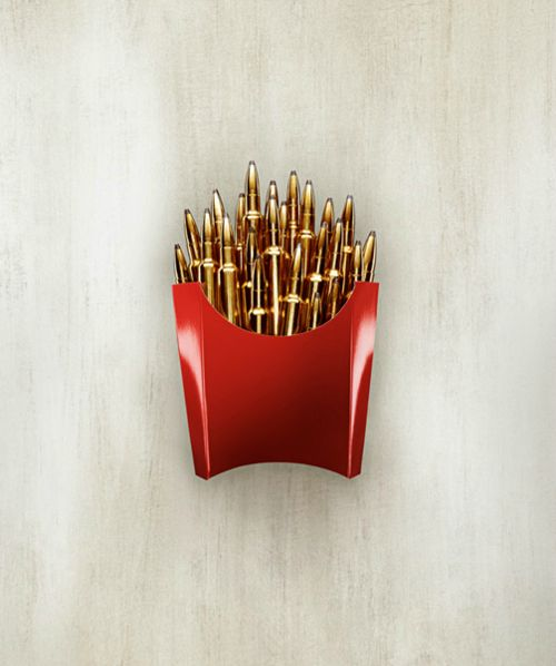 McBullets - this is what you will be served if you come to my house uninvited! ;)