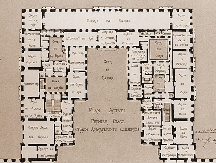 17 best images about versailles floor plans on pinterest for Versailles house floor plan