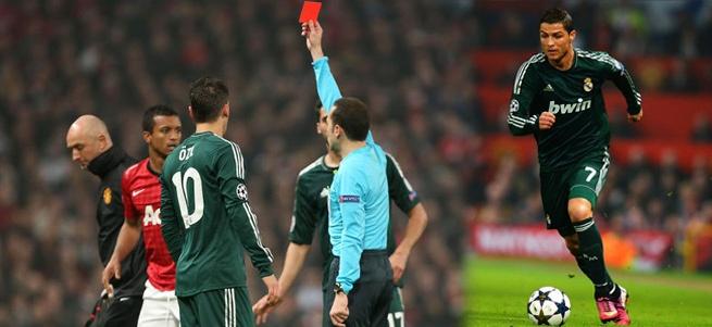 Şampiyonlar Ligi 2. tur rövanş maçında Real Madrid, 1 - 1'in rövanşında Manchester United'i 2 - 1 yenerek çeyrek finale adını yazdıran taraf oldu. Ancak maçtan çok maçın hakemi Cüneyt Çakır konuşuluyor..