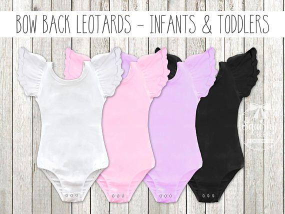 Flutter Sleeve Bow Back Leotards Baby Leotards Leotard with