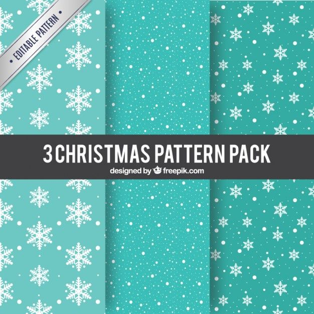 Free vector Turquoise christmas patterns #33461