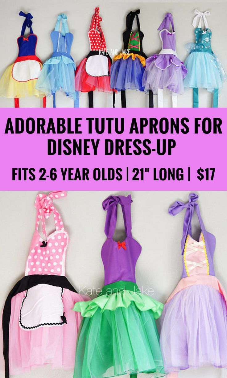 These little Disney princess inspired aprons are the best!  My daughter looooves her Minnie Mouse one and she's getting Snow White for christmas, I can't wait to see her in it.  They have a tutu skirt, how cute is that?  They're one size and meant for 3-6 year olds, but my daughter was 2 and it was fine.  Sooo darling and really affordable too! #affiliate #disneyprincess #dressup #thatsdarling