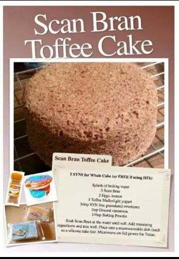 Toffee bran cake slimming world