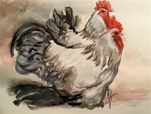 "Daily Paintworks - ""Coronation Sussex"" - Original Fine Art for Sale - © Annette Balesteri"