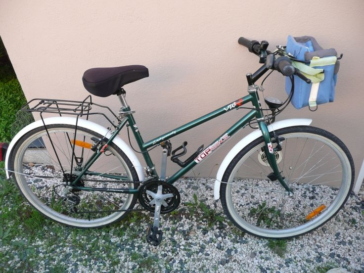 #Location vélo conçu pour des balades et déplacements occasionnels sur routes et chemins. Équipe de garde-boue. 18 vitesses vous permettrons de rouler a votre rythme. Location vélo VTC FEMME La Garde (83130)_www.placedelaloc.com