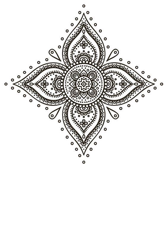 Las mejores imágenes de mandalas en blanco y negro para colorear | Imágenes y Noticias
