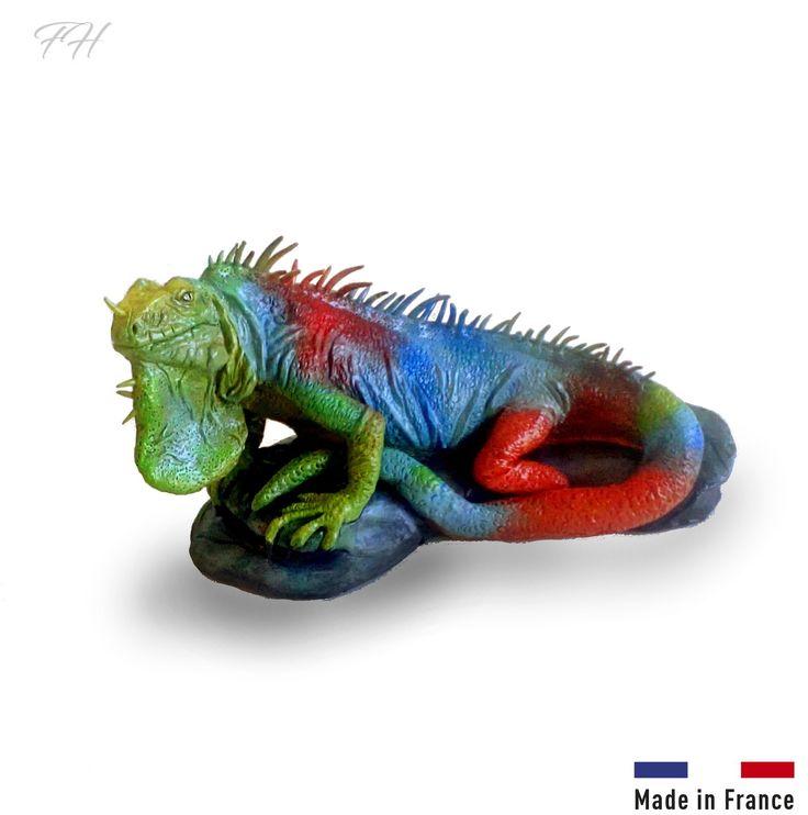 Figurine reptile Iguane en argile 100% naturel, non cuite : Sculptures, gravures, statues par figurinesheros