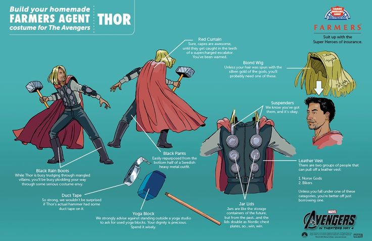 Awesome tips for homemade Avengers costumes....Great because my son is insisting on Thor this year.