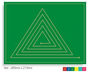 Triangle Doodle Board - use as a prayer labyrinth