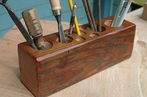The Reclaimed Timber Desk Caddy  No030 XL by JonathanJanuary, $45.00