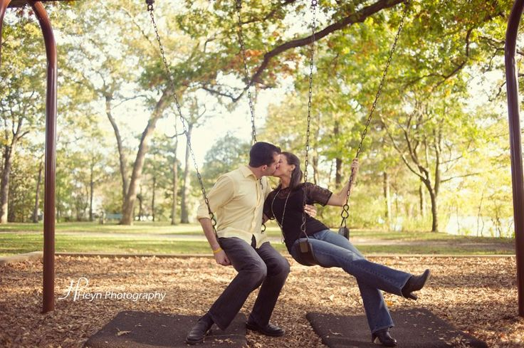 Have fun with this #playground themed #engagementsession #loveit #shesaidyes