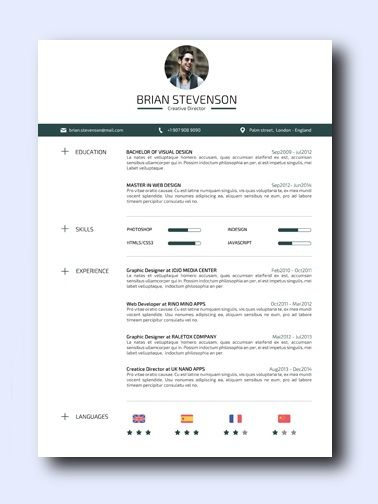 This has it all: A creative resume design, practical and professional layout, and very simple to edit. This creative resume template can be used for a wide variety of careers such as Marketing, Design, Business, or IT. Adamo Clean | SeeResumes