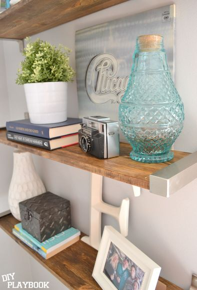 DIY rustic shelves add storage and eye candy to this empty wall space | DIY  Playbook