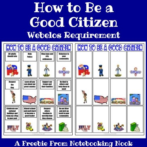What is being a good citizen?