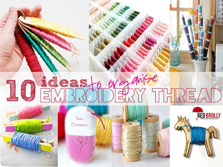 Ideas to organise your embroidery thread red brolly