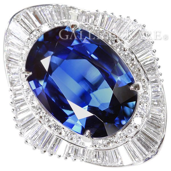 ブルーサファイア リング ブルーサファイア 11.5ct ダイヤモンド 1.96ct プラチナ900 PT900 リングサイズ約13号 ジュエリー 指輪 ダイアモンド サファイヤ