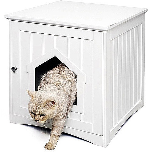 Homezone Kitty Litter House, White $49.88 Very  Pretty......................goes With My Furniture.....put It In The Living  Room.... And Then Wondeu2026