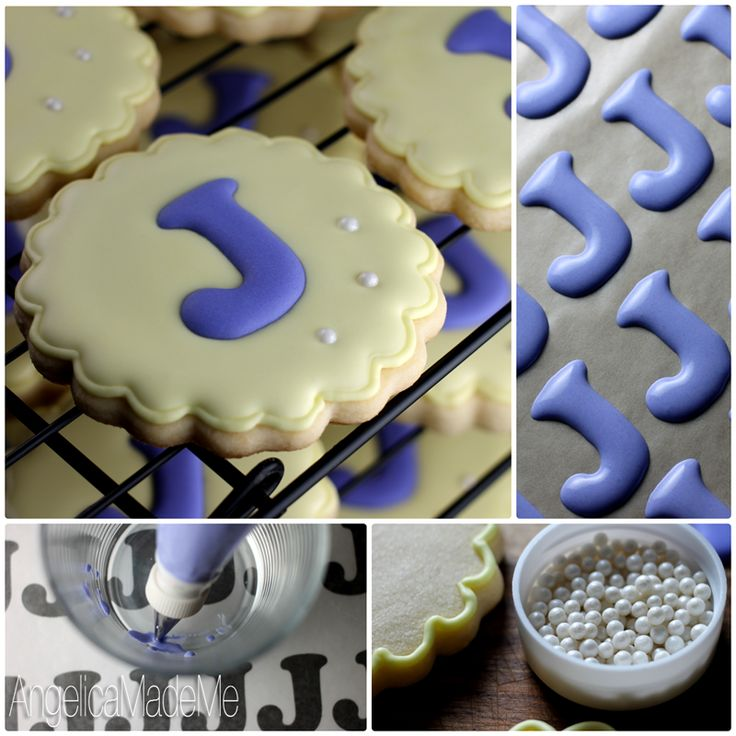 Custom monogram cookies: HOW TO post. Made for a baby shower and would be great for weddings. Hmm... what else?