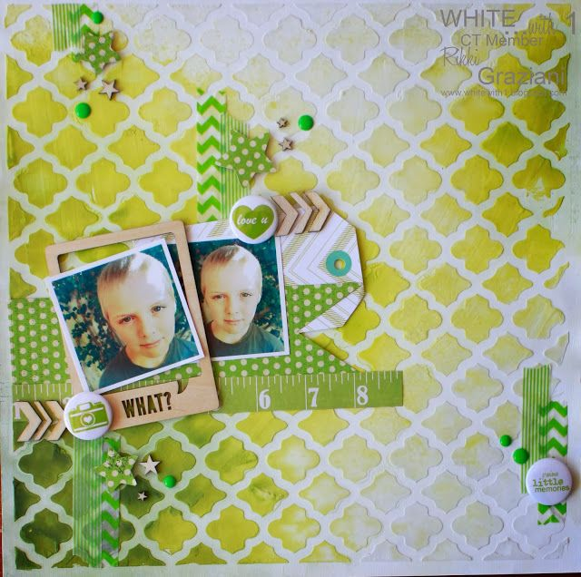 White with 1 October Challenge   http://justtoobsessed-rikki.blogspot.com.au/