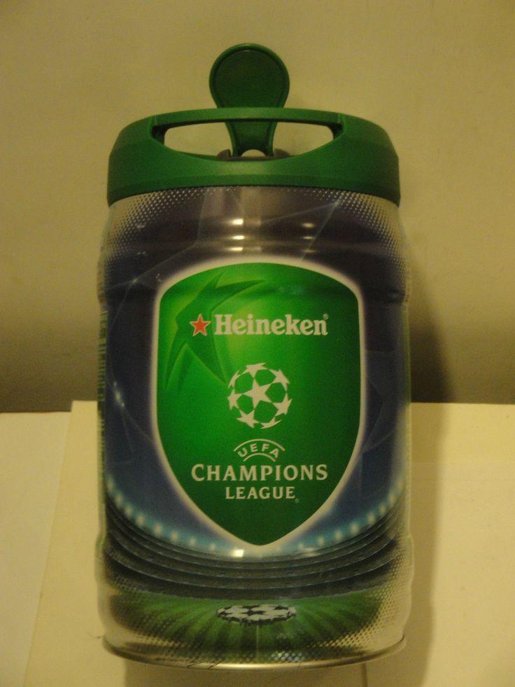 Fusto birra Heineken con sponsor Uefa Champions League