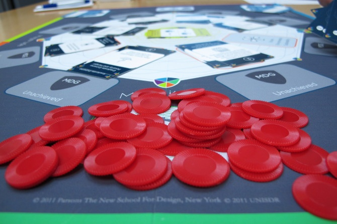Magnitude is a conference board game where groups of four collaboratively play as a nation to achieve the most progress towards the UN Millennium Development Goals* (MDGs)