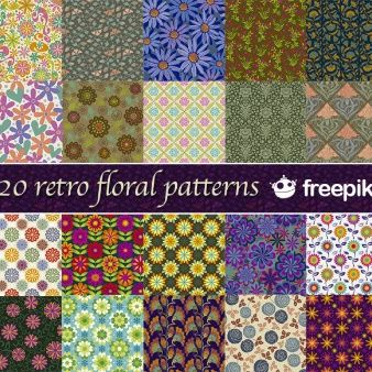 20 Retro Floral Patterns Freepik