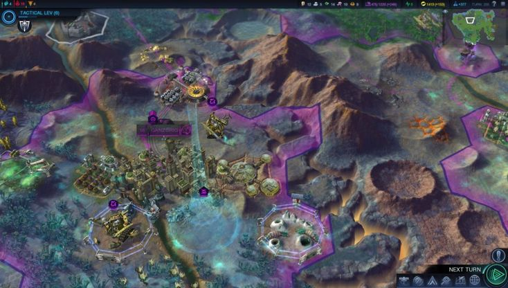 New Civilization: Beyond Earth screens depict cities