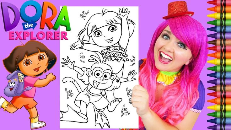 Coloring Dora The Explorer & Boots Summer GIANT Coloring ...