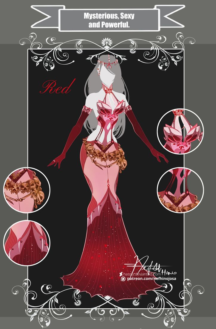 CLOSED Adoptable Outfit Auction: MSP Red by Hassly.deviantart.com on @DeviantArt
