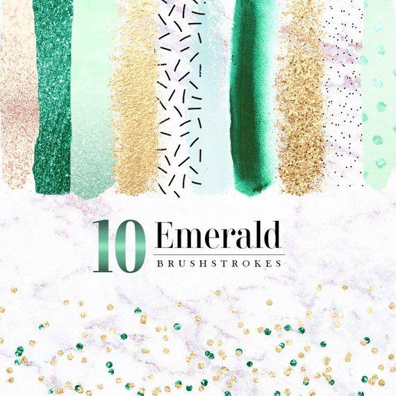 10 Emerald Brush Strokes Clipart Dark Green Brush Strokes Etsy Clip Art Brush Strokes Brush Stroke Png