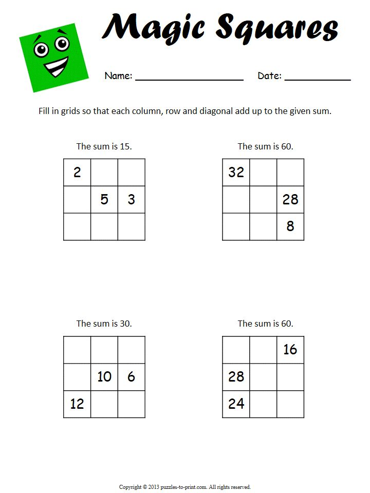 58 Best Math Puzzles Images On Pinterest Number Puzzles Math