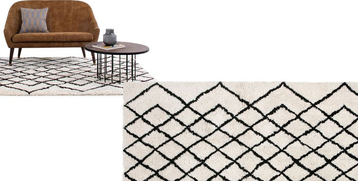 Fes Large Tufted Wool Rug 160 x 230cm, Off White from Made.com. Grey/White. Express delivery. Our Fes rug is handwoven in India from 100% New Zealan..