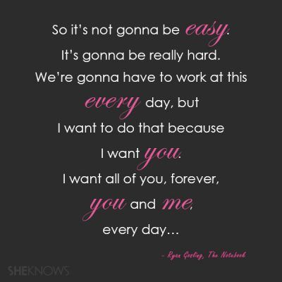 I want you forever #Notebook #Love #Quotes #MotivationalMonday