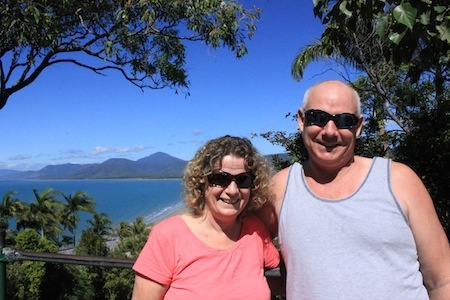 David and Fiona at the Port Douglas Lookout