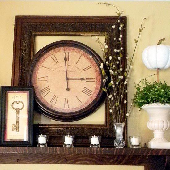 96 best Mantel Shelf Decor images on Pinterest | Fireplace surrounds ...
