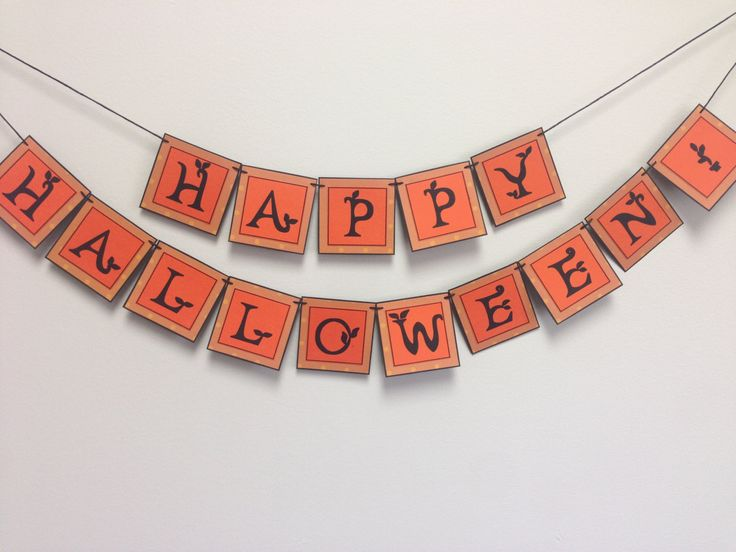 Happy Halloween Handmade Paper Banner by AuntDotsPaperDesigns on Etsy