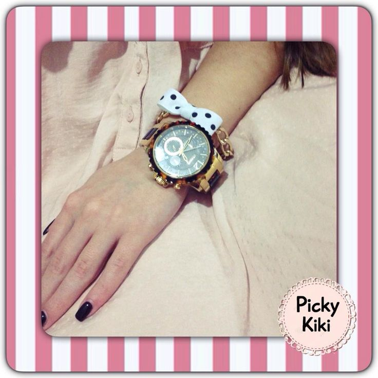New Spring Collection 2015! Handmade bracelets with colorful bows from faux golden chain to make your watch more stylish and chic!