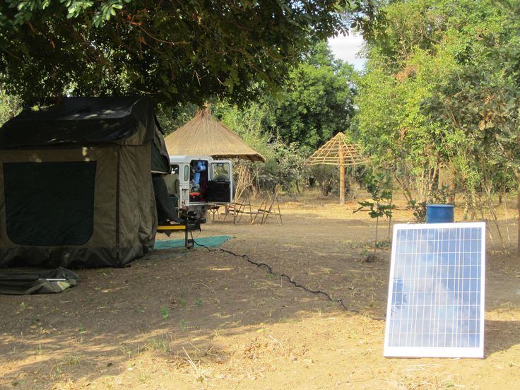 Solar panels are essential for bush campers.