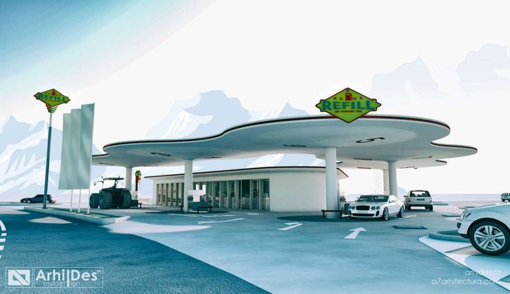 concept functional, design, identitate si proiectare completa statie de carburanti REFILL.