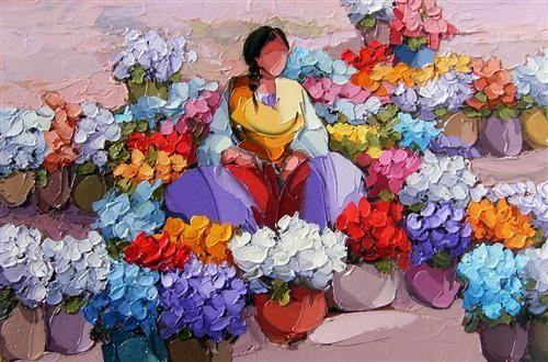 Saim Dursun - Hatice - oil on canvas