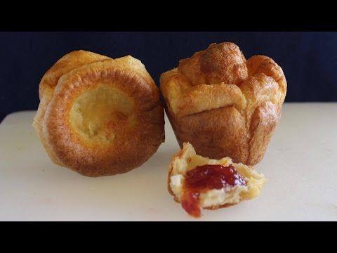 Pan de 3 ingredientes sin levadura y en sólo 20 minutos   Yorkshire pudding   popovers - YouTube