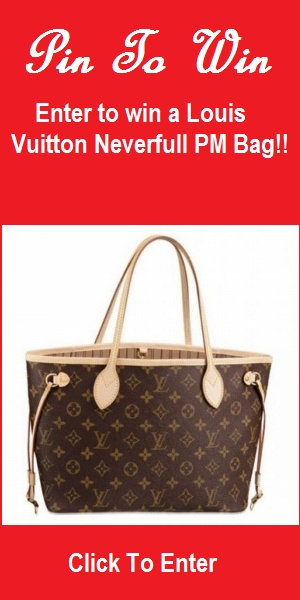 Pinterest Contest - Pin To Win a brand new Louis Vuitton Neverfull PM Bag from MobStub Daily Deals - Click to get to the entry page