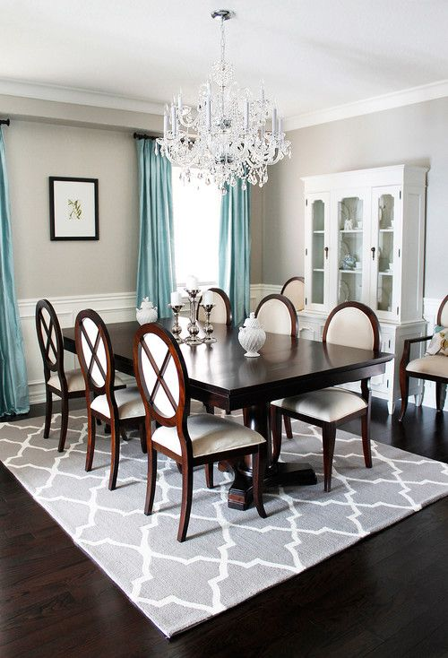 How to Make Wood Tones Work for You - Use an area Rug as a Buffer