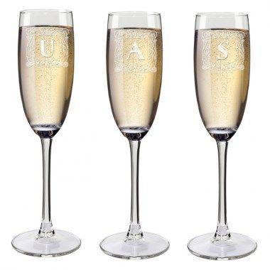 Bicchieri Flute personalizzati con iniziali