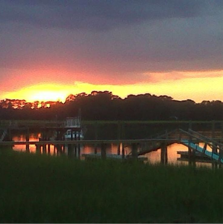 October 2014 Local View: Calm Autumn Sunset | HHI Vacation Blog